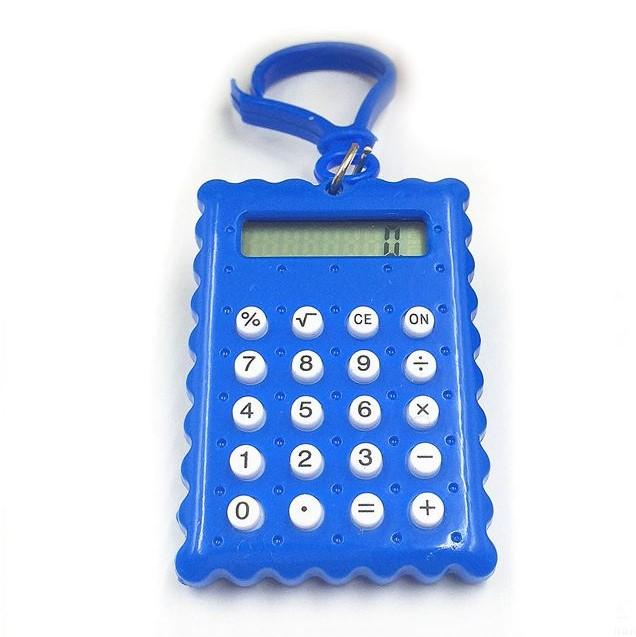 Брелок 8-разрядный калькулятор Печенька, цвет синий