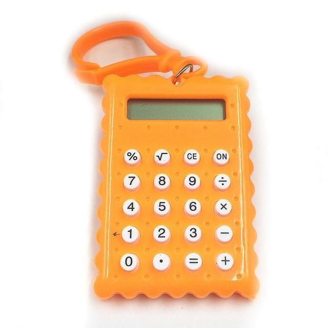 Брелок 8-разрядный калькулятор Печенька, цвет оранжевый