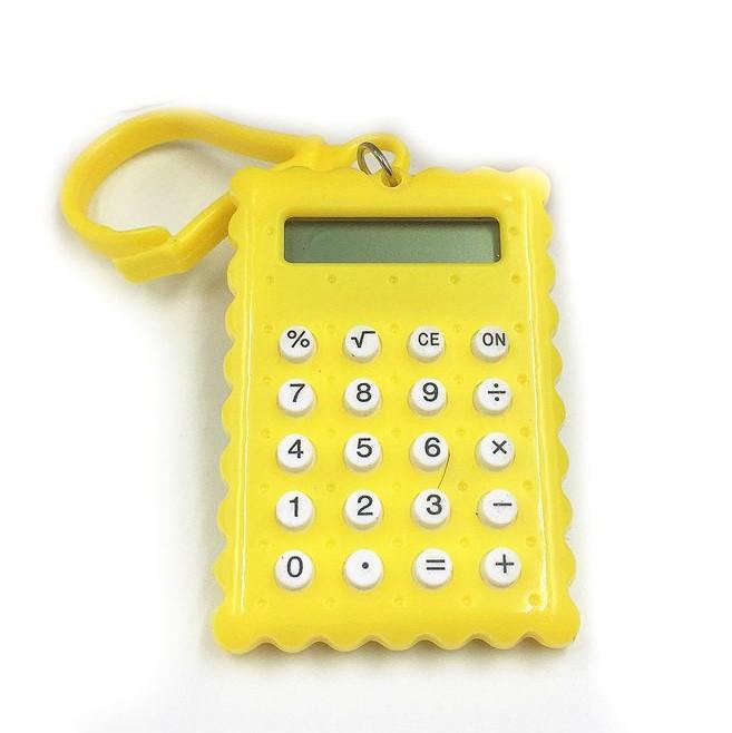 Брелок 8-разрядный калькулятор Печенька, цвет желтый