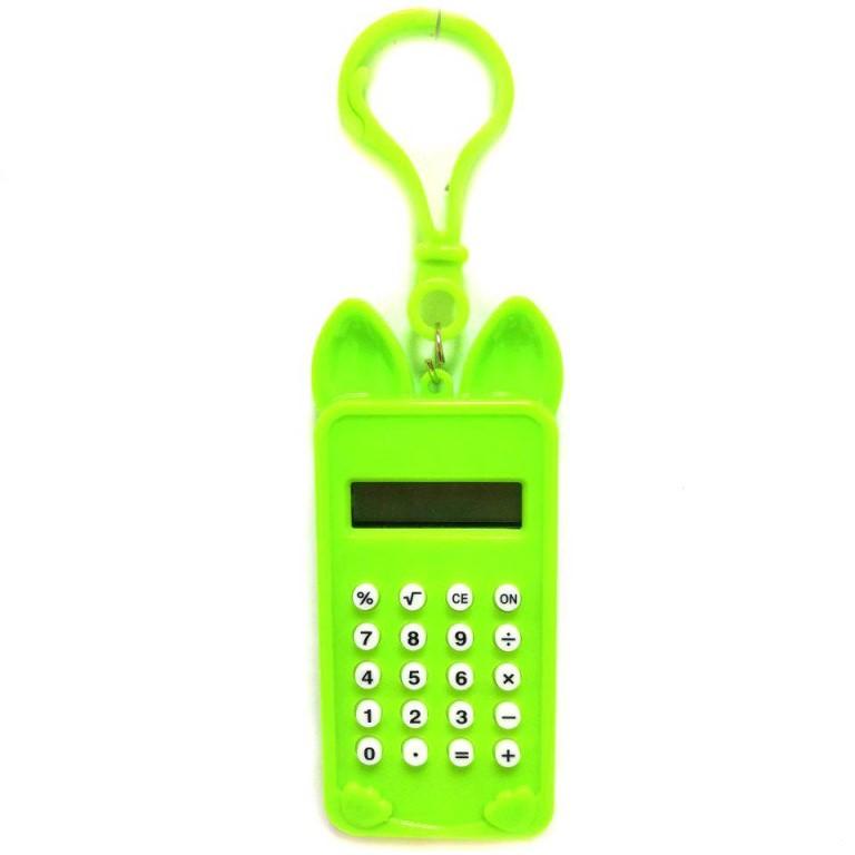 Брелок 8-разрядный калькулятор Мышка, цвет зеленый