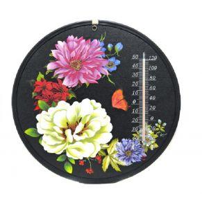 Декоративный круглый комнатный термометр Termometro, Рисунок: крупные цветы