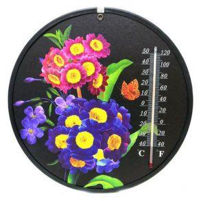 Декоративный круглый комнатный термометр Termometro, Рисунок: мелкие цветы