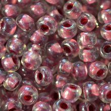 Бисер чешский 38627 прозрачный малиновая линия внутри Preciosa 1 сорт