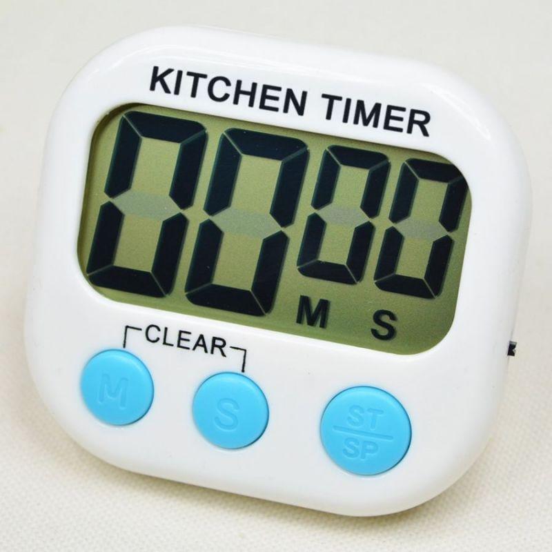 Кухонный Электронный Таймер С Подножкой И Магнитом XL103, Цвет Белый