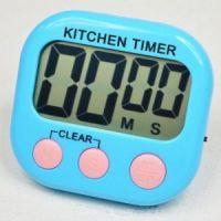 Кухонный электронный таймер с подножкой и магнитом XL103, цвет голубой