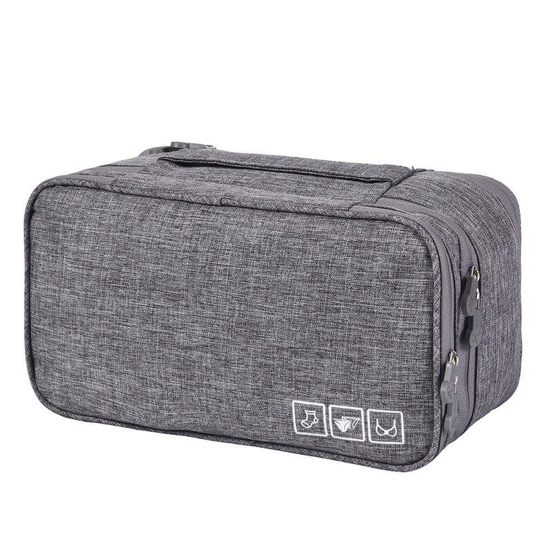 Дорожный Органайзер Для Нижнего Белья Travel Underwear Pouch, Цвет Серый