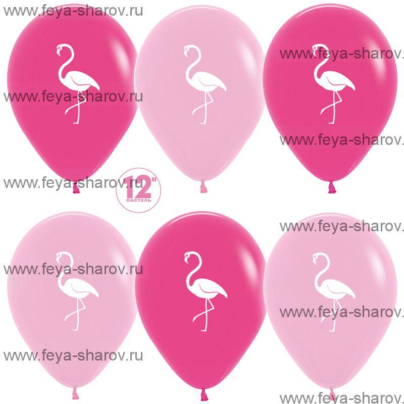 """Шар 12""""(32см) Фламинго"""