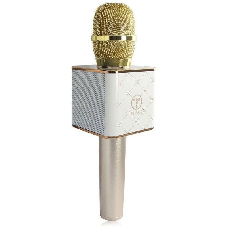 Беспроводной караоке микрофон Q7, золотистый