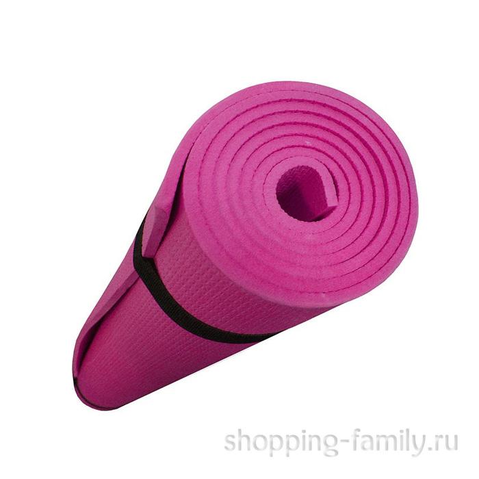 Коврик для йоги Yoga, 137х60 см, цвет розовый
