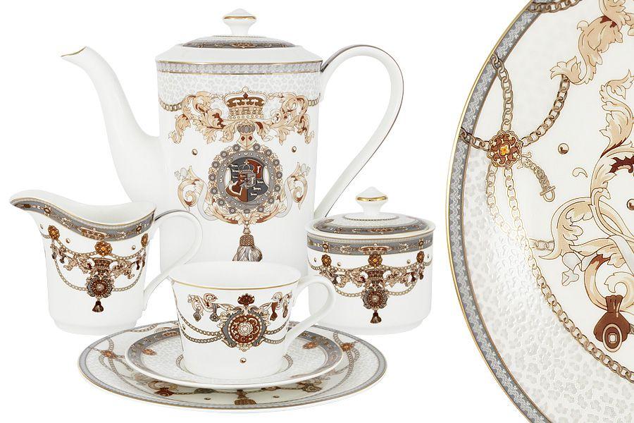 """Чайный сервиз на 6 персон """"Принц Эдвард"""", 21 пр."""