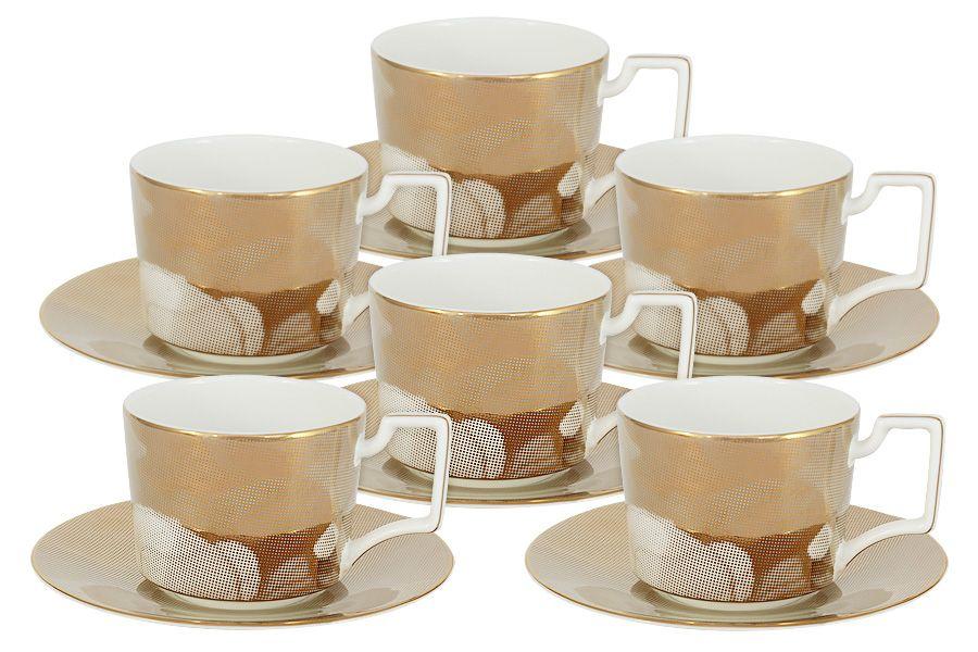 """Чайный набор на 6 персон """"Лунная соната Голд"""", 12 пр."""