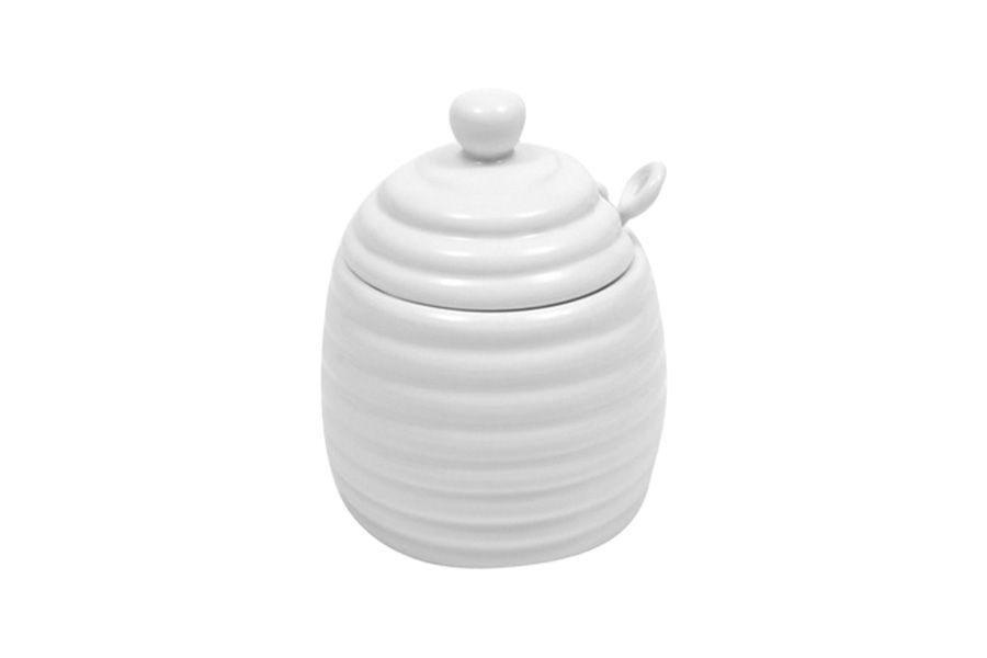 """Банка для мёда с ложкой """"Белая коллекция"""", 0.25 л"""