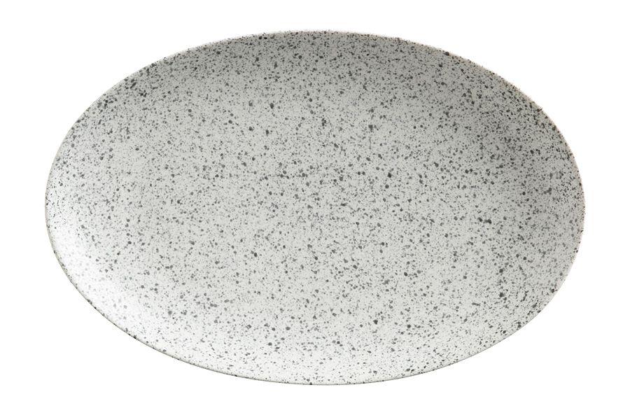 """Тарелка овальная малая (пепел) """"Икра"""", 25х16 см"""