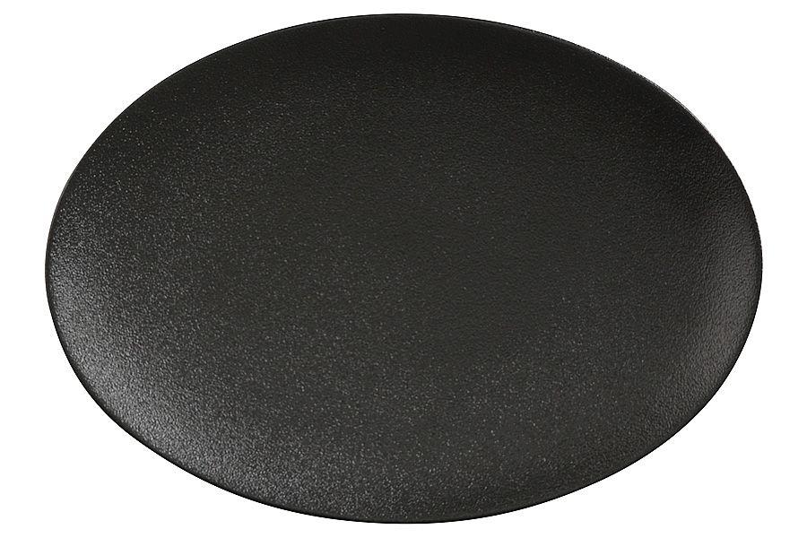 """Тарелка овальная (чёрная) """"Икра"""", 30х22 см"""