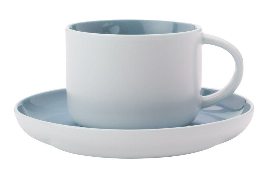 """Чашка с блюдцем """"Оттенки (голубая)"""", 0.25 л"""