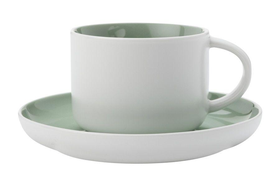 """Чашка с блюдцем """"Оттенки (мятная)"""", 0.25 л"""