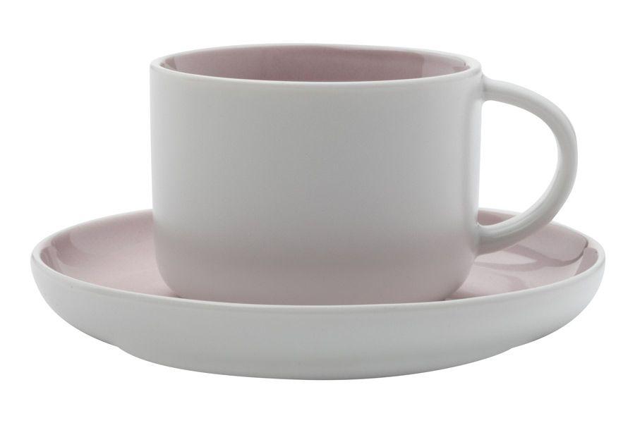 """Чашка с блюдцем """"Оттенки (розовая)"""", 0.25 л"""