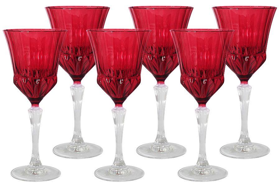 "Набор бокалов для вина ""Адажио - красная"", 6 шт., 0.2 л"