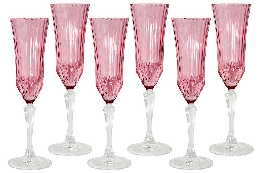 """Набор бокалов для шампанского """"Адажио - розовая"""", 6 шт., 0.15 л"""