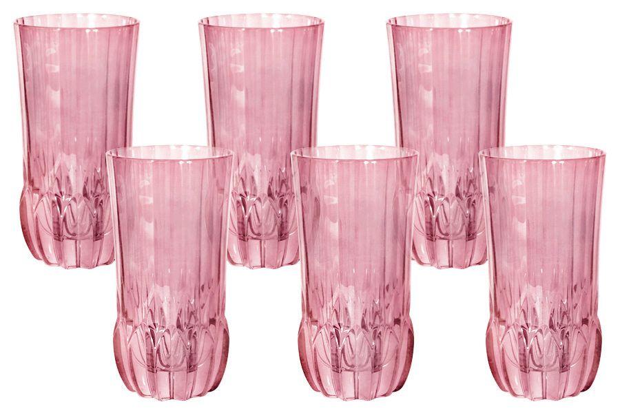 """Набор стаканов для воды """"Адажио - розовая"""", 6 шт., 0.35 л"""