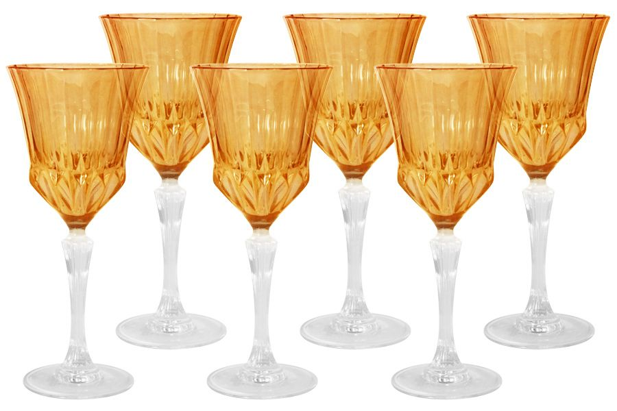 "Набор бокалов для вина ""Адажио - янтарная"", 6 шт., 0.2 л"