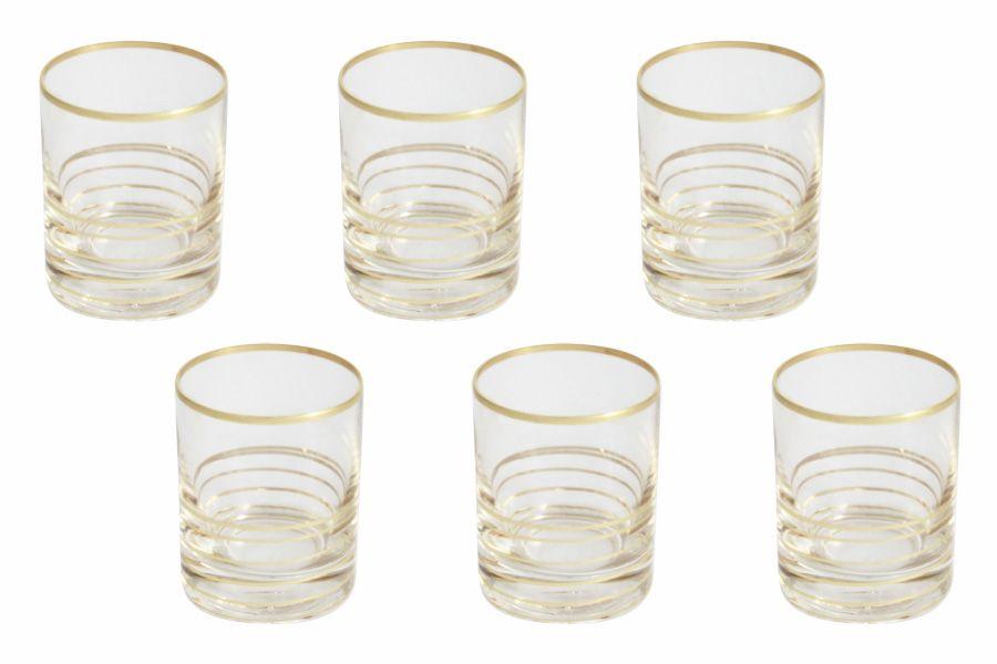 """Набор стопок для водки """"Спираль"""" (золото), 6 шт., 0.05 л"""