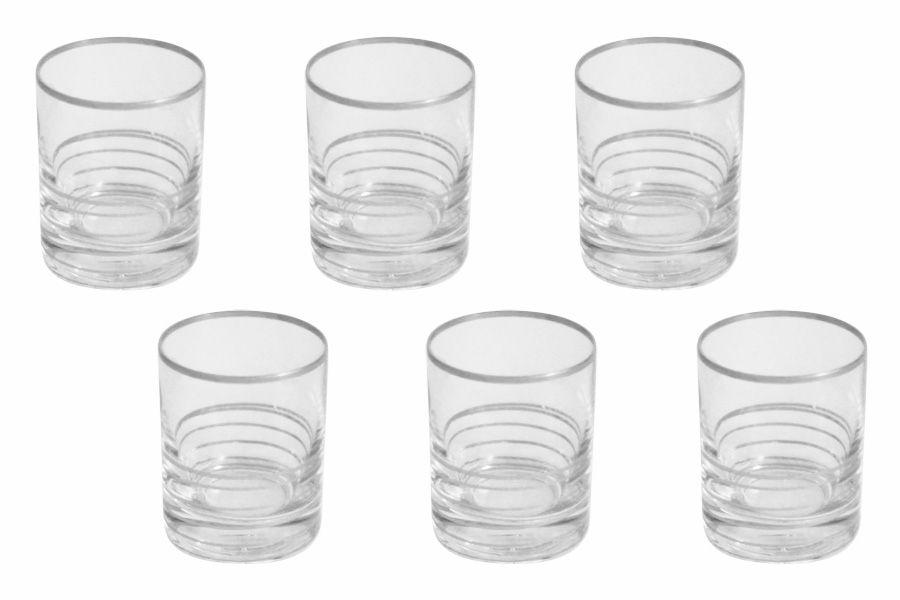 """Набор стопок для водки """"Спираль"""" (серебро), 6 шт., 0.05 л"""