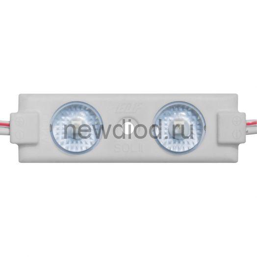 Модуль светодиодный ELF 2SMD диод 2835, с линзой, 160гр.,12В, IP 65, STD, белый