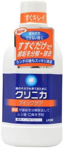 Lion Зубной эликсир Быстрое очищение с антибактериальным эффектом аромат мяты 450 мл
