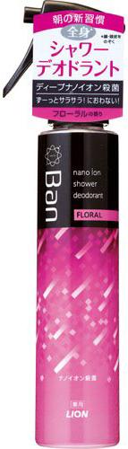 Lion Парфюмерная вода с эффектом дезодоранта-антиперспиранта для всего тела Ban Shower Deodorant с ароматом Цветов 120 мл