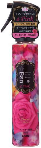 Lion Парфюмерная вода с эффектом дезодоранта-антиперспиранта для тела Ban Shower Deodorant с ароматом Розы 120 мл