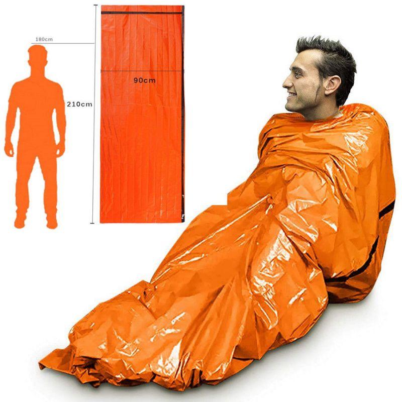 Аварийный спальный мешок-палатка из полиэтилена, 91х213 см