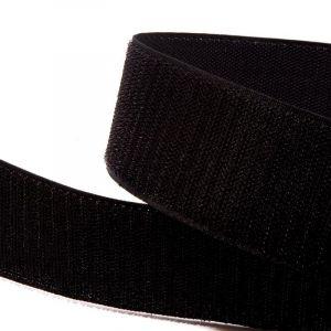"""`Лента-контакт клеевая """"Велкро"""", ширина 25мм, пара, цвет черный"""