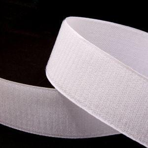 "Лента-контакт клеевая ""Велкро"", ширина 25мм, пара, цвет белый (1уп = 5м)"