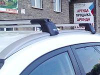 Багажник на крышу Audi Q3, Turtle Air 2, аэродинамические дуги на интегрированные рейлинги (серебристый цвет)
