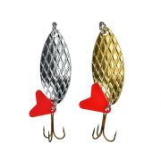 AZOR FISHING Блесна, колеблющаяся, Кристалл 040, 2 цвета (серебро/золото), 18 гр.