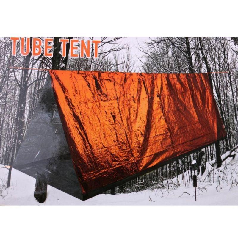 Аварийный Тент-Труба Светоотражающий Emergency Tube Tent, 240x150х90 См, Цвет Оранжевый