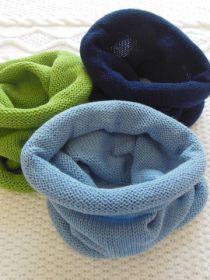Снуд (шарф) детский, голубой арт. 24010