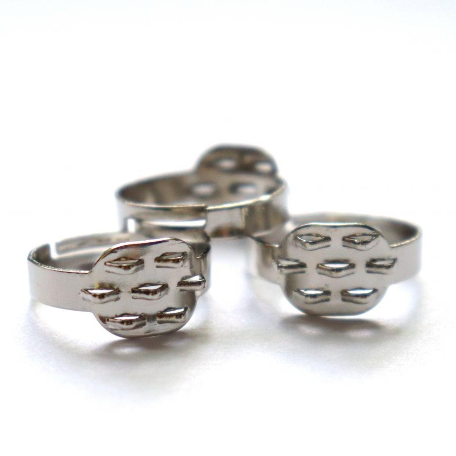 Основа для кольца, 7 петель, цвет никель, рег. размер, 3 шт/упак