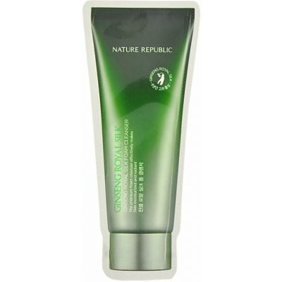 Пенка для умывания пробник Nature Republic | (Sample) Ginseng Royal Silk Foam Cleanser