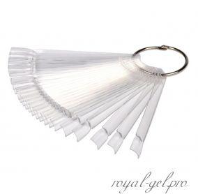 Палитра-веер на 50 оттенков прозрачная