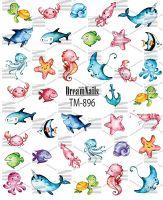 Слайдер-дизайн «Рыбки» TM - 896 Dream Nails (водные наклейки)