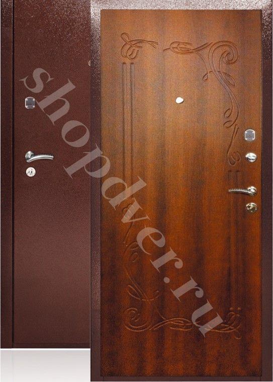 Металлические двери с отделкой панелями экошпон