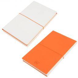 бизнес блокноты Combi 21219 белые с оранжевым
