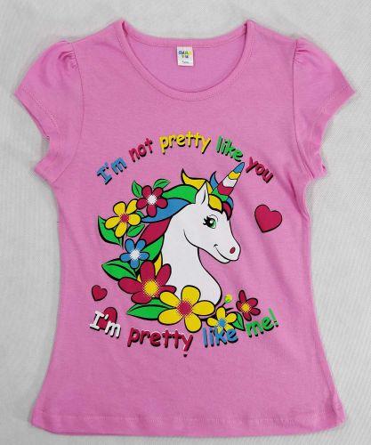 Футболка для девочек 4-8 лет DIAS kids розовая
