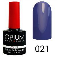 Гель-лак цветной Opium №021, 8 мл