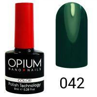 Гель-лак цветной Opium №042, 8 мл