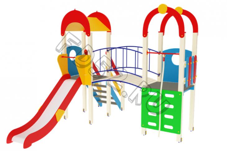 Детский игровой комплекс                           Рада Горка 1200                                           4380х3500х3000