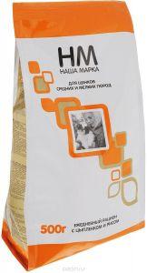 НМ для щенков средних и мелких пород (цыпленок и рис) упак. 0,5кг
