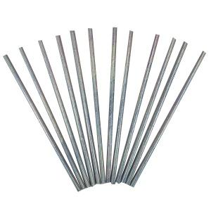 Трубочки серебряные с голографическим отблеском